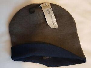 MEN/'S REVERSIBLE KNITTED BEANIE  WINTER SKI HAT CAP OUTDOORS