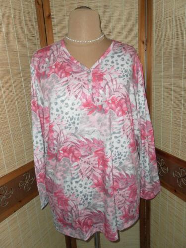 Damen  shirt  gr 58 60  rosa  elastisch Langarm  weich und angenehm 80 cm weit