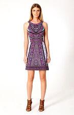NWT Hale Bob Denise Teal Jersey Knit Above Knee Dress Sz M $211