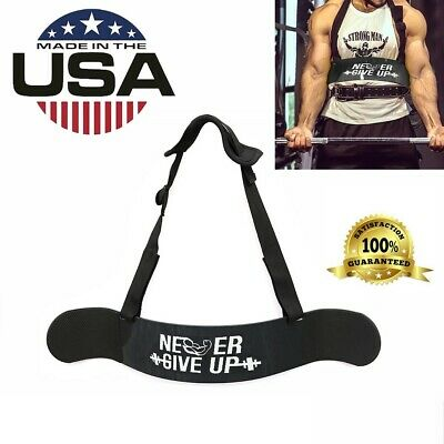 Heavy Duty Arm Blaster Gym Body Building Bicep Builder Curl Bar Weight Lifting