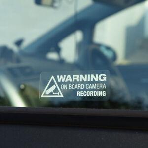 Warning On Board Camera Recording Car Window Truck Auto Vinyl Decor Sticker Gift