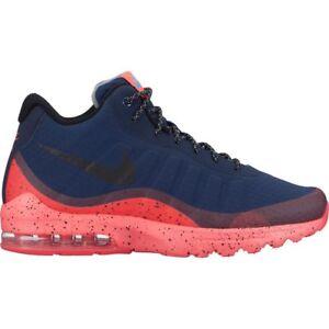 Men's Nike Air Max Invigor Mid Shoe 858654-401 OBSIDIAN/BLACK-SOLAR RED-BLUE