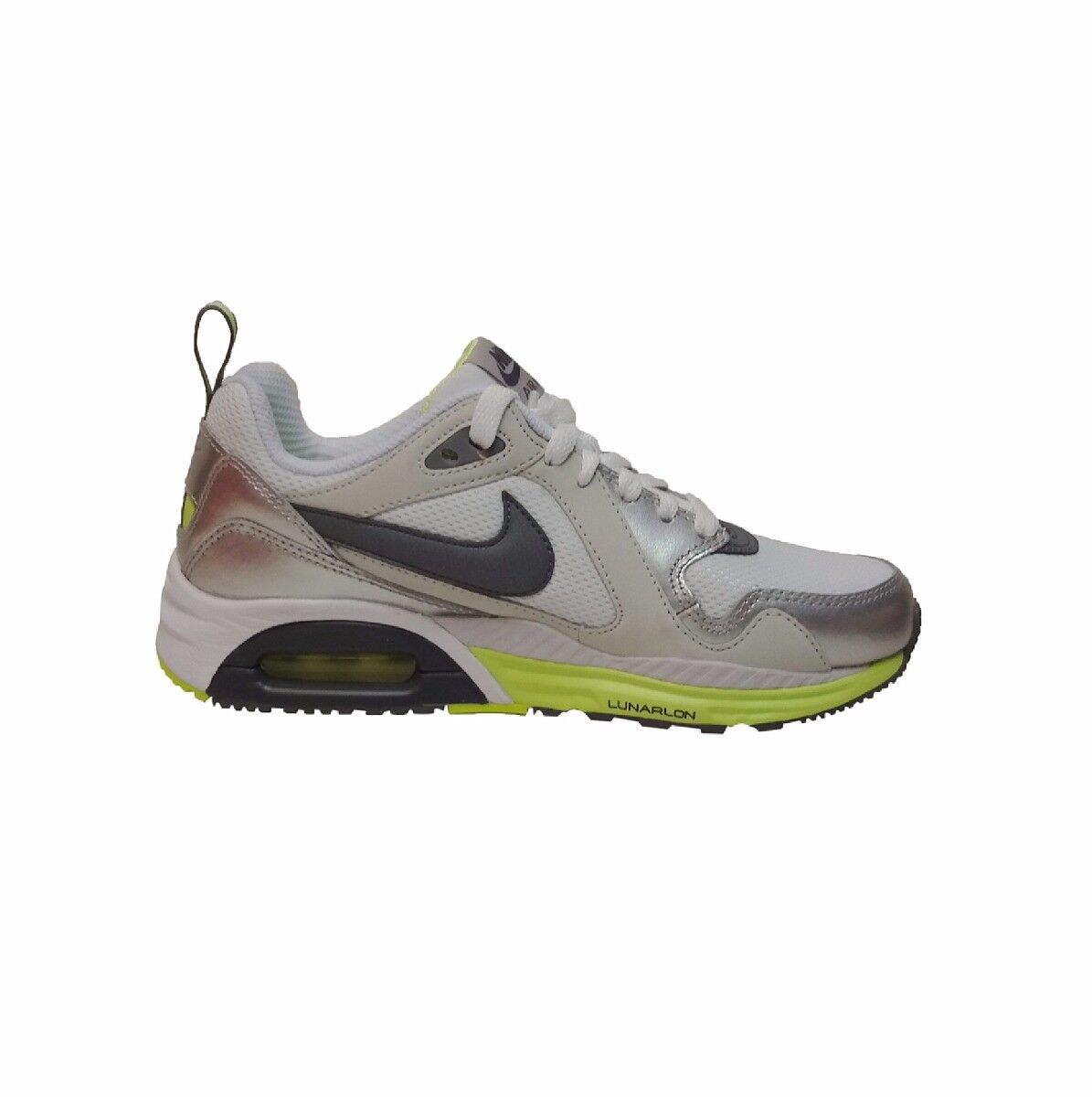 Nike air max trax running baskets chaussures taille uk 5.5 6 blanc gris rrp £ 100/-