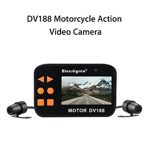 Motorcycle-Car-Dash-Action-Dual-Dash-Camera-Loop-Recorder-2-7-034-HD-LCD-Display