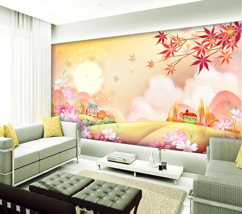 3D Mond Blume Blume Blume Ahorn 84 Tapete Wandgemälde Tapete Tapeten Bild Familie DE 2aea01