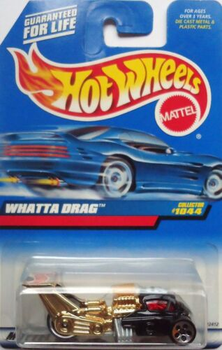 1999 Hot Wheels Whatta Drag Col #1044 China Base