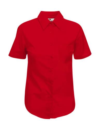 Damen kurzarm Popelin Bluse S-3XL ** 65-014-0 ** New Hemd Fruit of the Loom