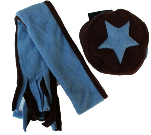 Cozyosko Baby Fleece Winter Beanie Hat and Matching Fleece Scarf Set