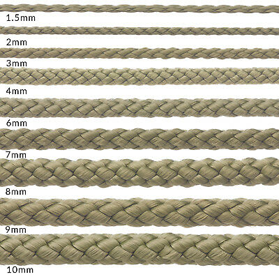 8mm Olive Khaki Green Polypropylene Rope Braided Poly Cord Yacht Boat Sailing