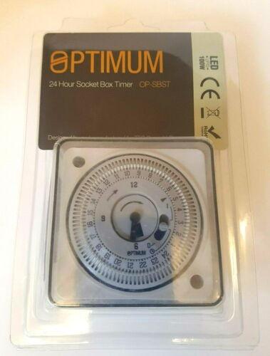 Tour Optimum OP-Sbst 24hr Socket Box Timer chaudière de chauffage Horloge temps éclairage