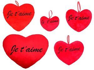 coussin p luche g ant en forme de coeur rouge id e cadeau romantique amour ebay. Black Bedroom Furniture Sets. Home Design Ideas