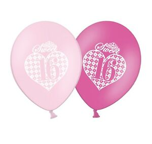 Sweet-16-Argyle-Pattern-12-034-Printed-Pink-Assorted-Latex-Balloons-pack-of-20