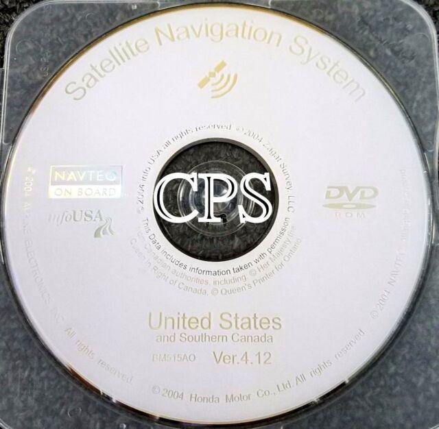 2005 Acura RL MDX & Honda Odyssey Navigation DVD Map 2013
