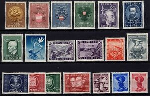 PP135020-AUSTRIA-STAMPS-YEARS-1948-1950-MINT-MNH-MH-CV-235