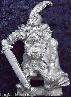 Generoso 1985 Dark Elf Bc2 Mostri Set Starter Male Capitano Citadel Elven Drow Warhammer-mostra Il Titolo Originale