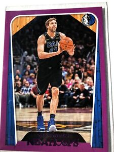 2018-19-Panini-NBA-Hoops-Purple-285-Dirk-Nowitzki-Tribute-Dallas-Mavericks-Card