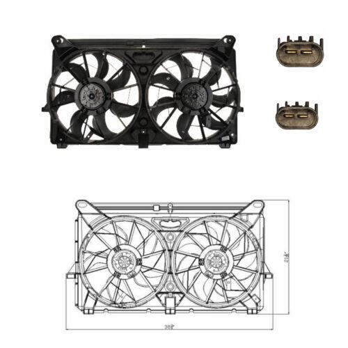2005-2006 GMC Sierra 1500 2500 HD 3500 Yukon Rad /& Cond Fan Assembly Fits