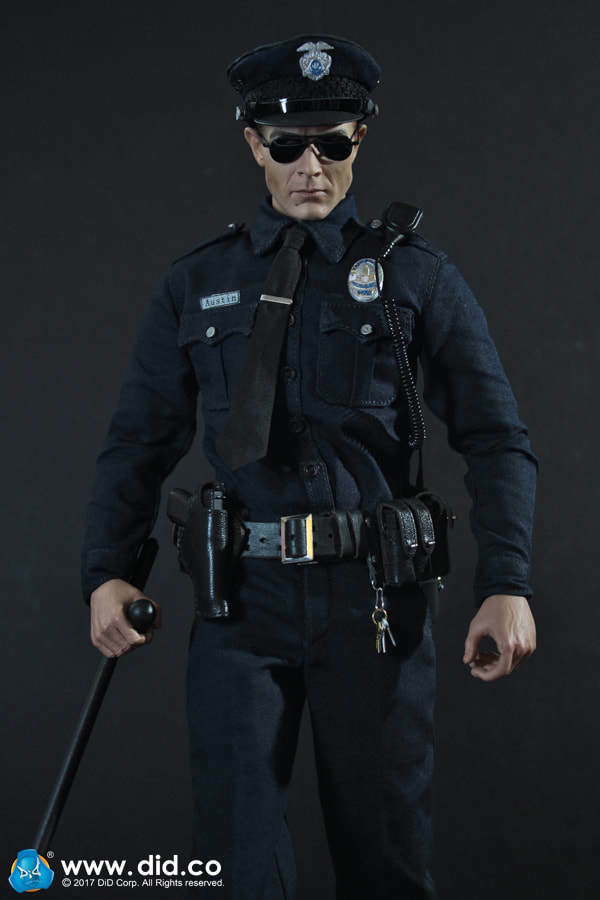 Dragón en sueños hizo 1/6 moderna nos Austin LAPD patrulla MA1009 T-1000 Terminator