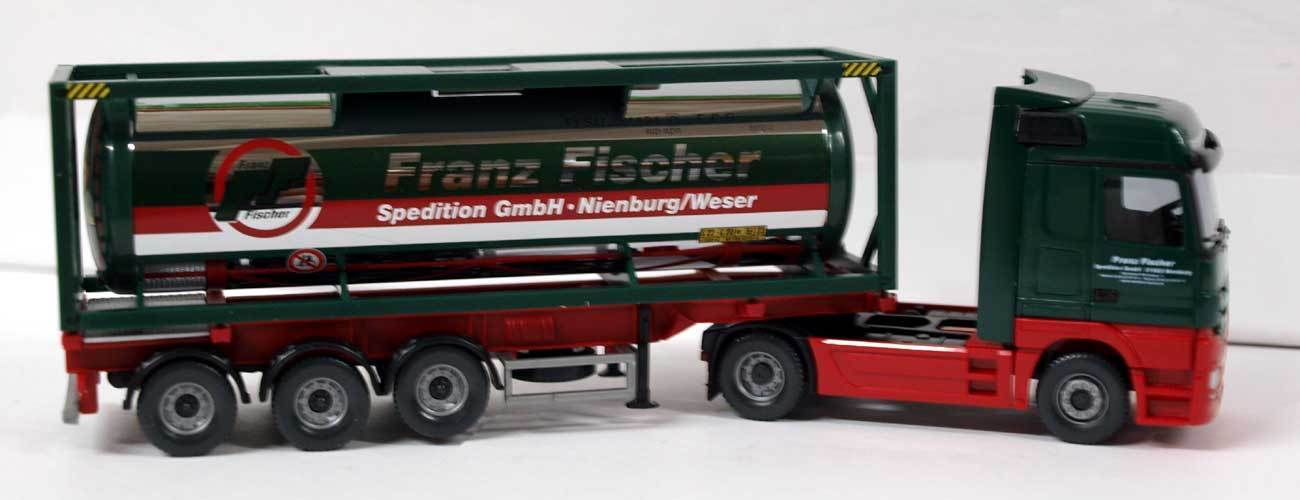 WIKING 053603 - 1 87 - MERCEDES ACTROS WITH CONTAINER TANK  FRANZ FISCHER