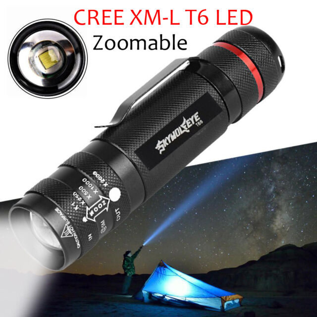 18650 Battery FT 5000lm T6 LED Zoomable 18650 Flashlight Torch