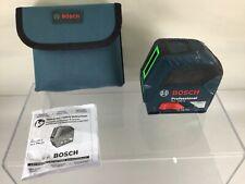 Bosch Green Beam Cross Line Lazar Gll100g Self Leveling Case Amp Manual B17