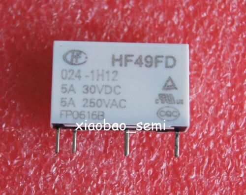 50PCS HF49FD-024-1H12 24VDC ORIGINAL Hongfa Relay 4PINS