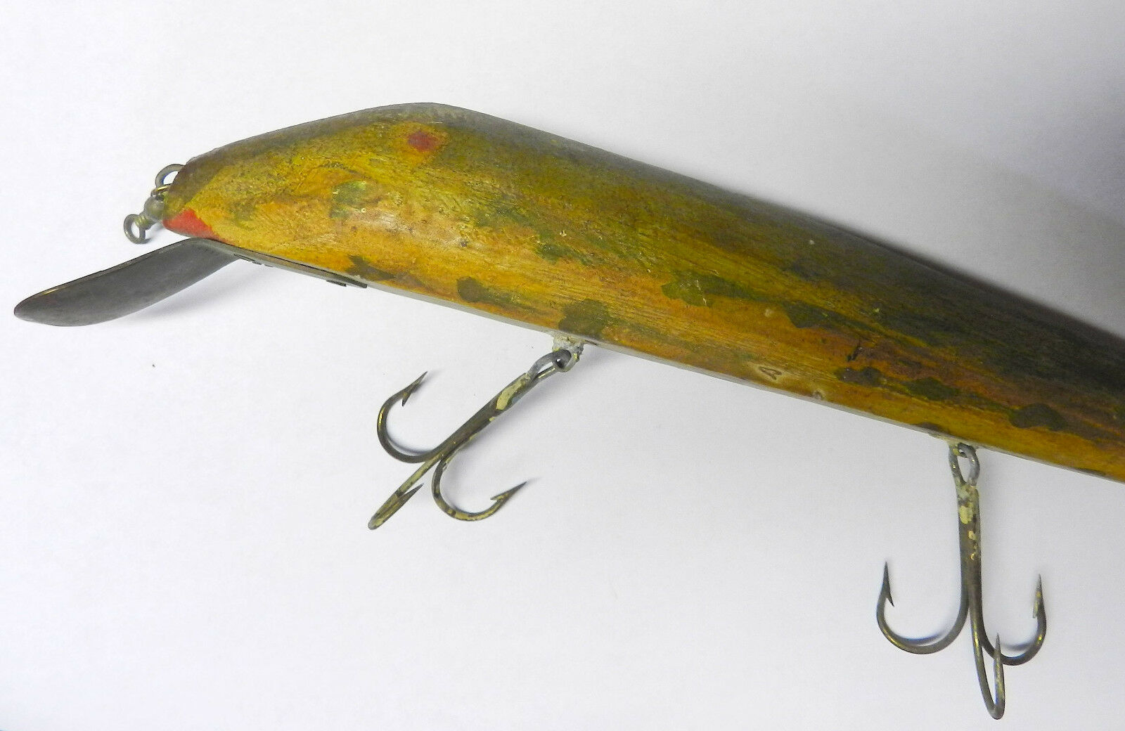 VINTAGE WOOD FISHING PRIMITIVE CHUB LURE PIKE MUSKY FOLK ART ORIGINAL & RARE f