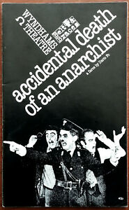 Accidental Death Of An Anarchist, Wyndhams Theatre Programme 1980