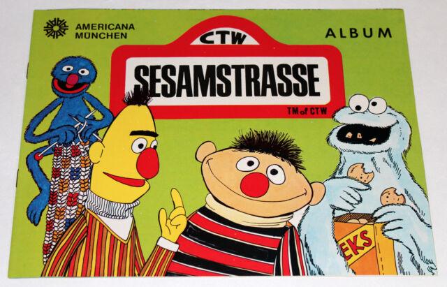 AMERICANA 1978 SESAMSTRASSE SESAME STREET 1 x LEERALBUM EMPTY ALBUM RARE!