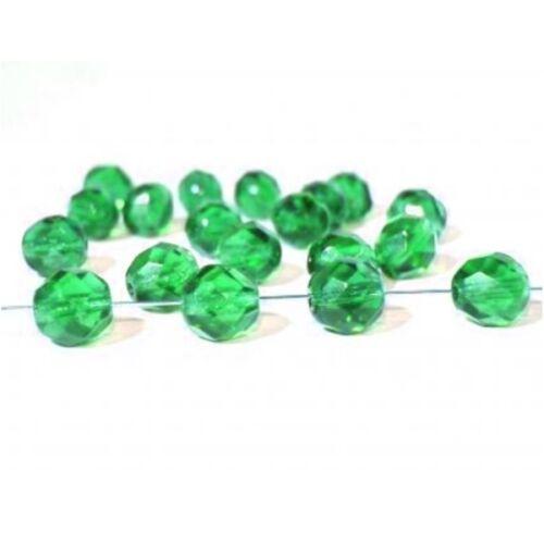 Checa Crystal perlas alrededor de facetado cristal beads 8mm verde cz9
