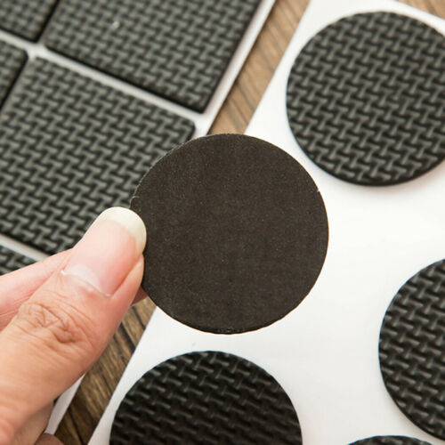 Details about  /96PCS Protector Rubber Pads Non-Slip Chair Leg Sofa Table Feet Mat Round Square