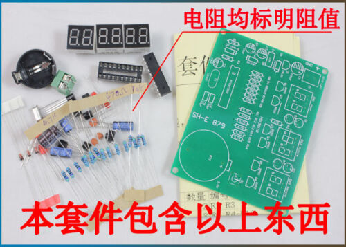 AT89C2051 Digital 6 Bits Electronic Clock Electronic Production Suite Kit