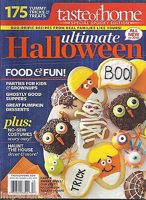 A Taste of Home Halloween magazine Parties Suppers Desserts Costumes