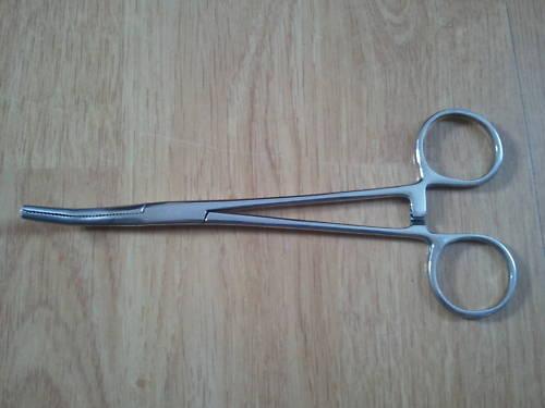 """5 /""""pouces 12,5 cm incurvé Pinces de pêche la carpe en acier inoxydable mer grossier petites"""