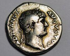 SILVER ROMAN Denarius Emperor HADRIAN ORIGINAL COIN