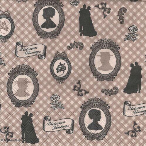 Paper Napkins Vintage Paris Butterfly Music Chic Party Decoupage 4 or 20 Napkins