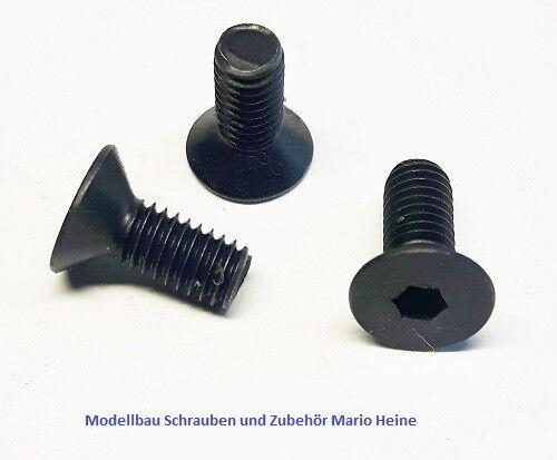 schwarz Senkkopfschraube M4x12mm Stahl hochfest 10.9 DIN 7991-25 Stück