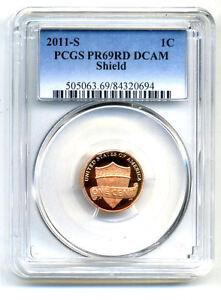 Details about PCGS PR69RD DCAM 2011 S PROOF Lincoln SHIELD CENT PENNY PR/PR  GEM 1C COIN#1670