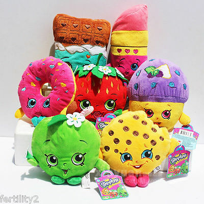 Shopkins Plush Toy Mini Muffin Doughnut Lipsticks Chocolate Stuffed Doll Toys 7""