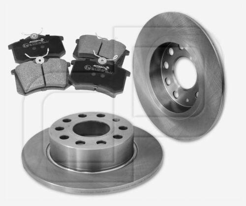 4 Bremsbeläge SKODA hintenHinterachse 255 mm 2 Bremsscheiben