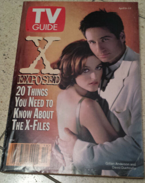 David Duchovny TV Guide April 6 - 12 1996 Like New Condition