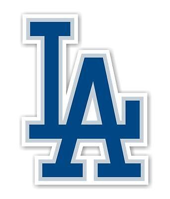 """100% Vero Los Angeles Dodgers """" La """" (blu) / Adesivo Die Taglio Buoni Compagni Per Bambini E Adulti"""