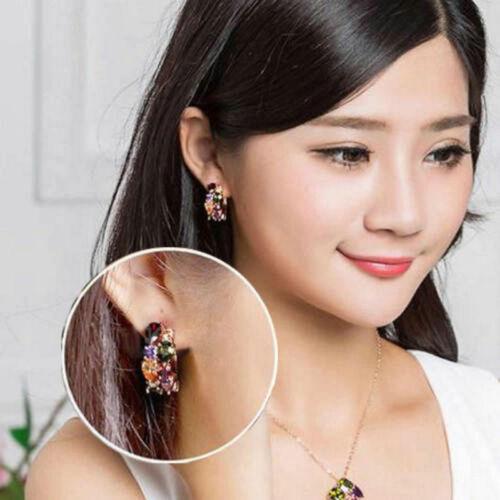 1 Pair Rhinestone Ear Stud Earrings Vogue Women Girl Lady Elegant Crystal