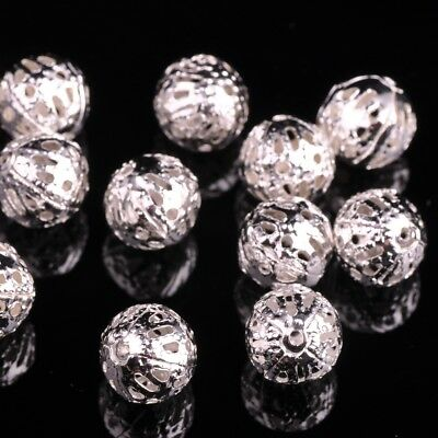 STERLING SILVER 8mm HOLLOW BEAD with no holes JEWELLERY MAKING