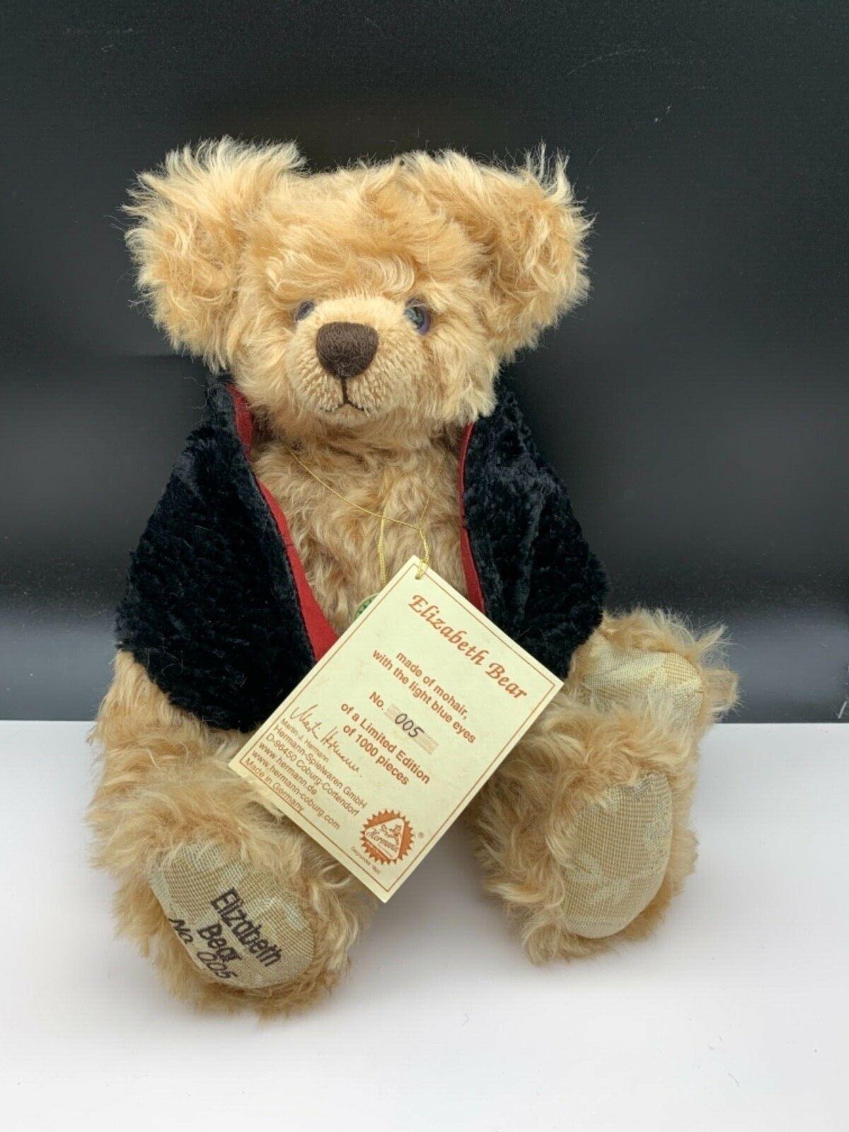 Hermann TEDDY ORSO della Élizabeth Bear 37 cm. disponibilità limitata. MATTONCINI.