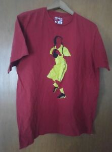 000-Men-039-s-Adidas-XL-Go-To-Tee-Red-Shirt-Yellow-Football-Player