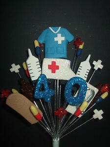 MEDICAL NURSE BIRTHDAY CAKE TOPPER 18th21st30th40th50th60th
