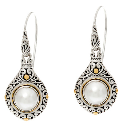 handmade 925 sterling silver dangle earrings with genuine golden cultured mabe pearl 4,8 cm drop length mabe pearl earrings elegant silver earrings with genuine gold mabe pearl