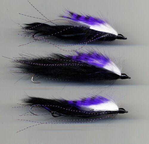 423 A Serpent des mouches The Purple médecin TRUITES MOUCHES liée au Royaume-Uni X 3 Taille 8