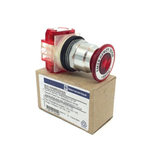 Emergency Stop Pushbutton 9001-KR8R05H25 Telemecanique 9001KR8R05H25